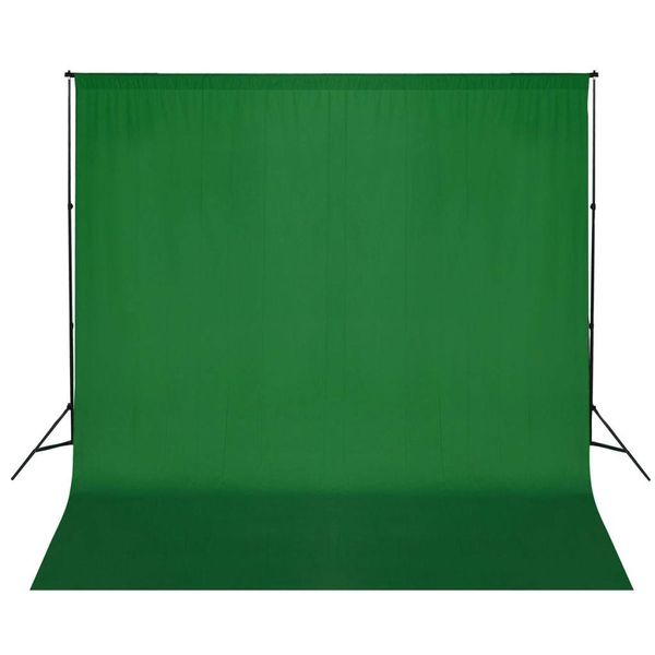 Achtergrondsysteem met green screen 600 x 300 cm.
