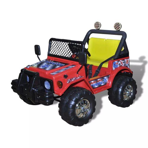 Elektrische speelgoedauto 2-zits (rood)