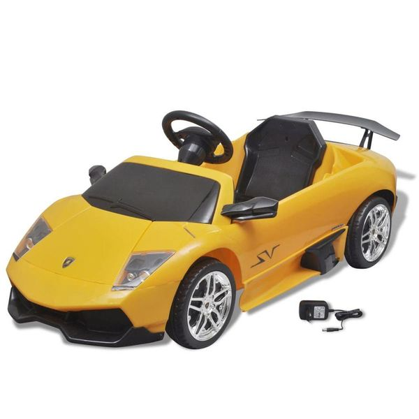 Elektrische auto Lamborghini Murcielago LGO LP 670-4SV 6 V geel