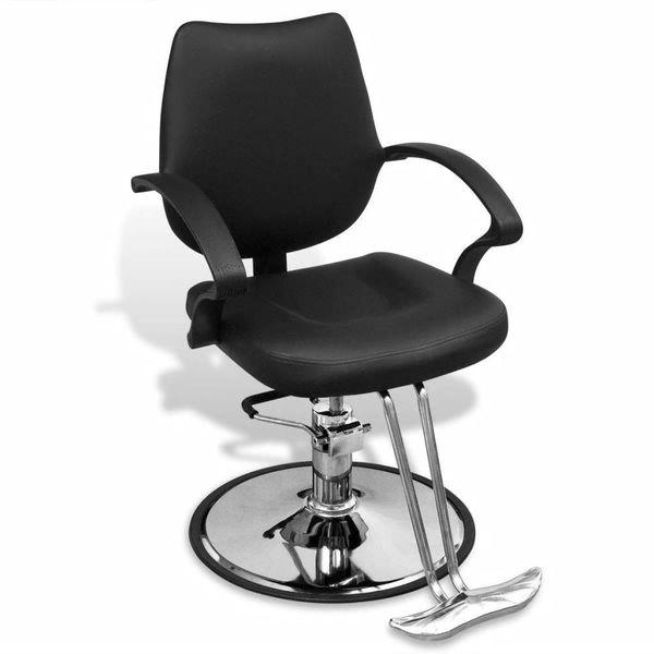 Kappersstoel professioneel kunstleer zwart