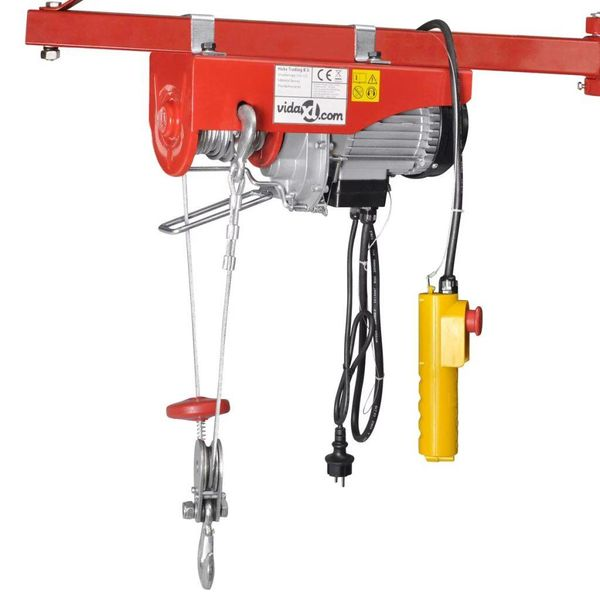 Elektrische lier 1000 W 200/400 kg