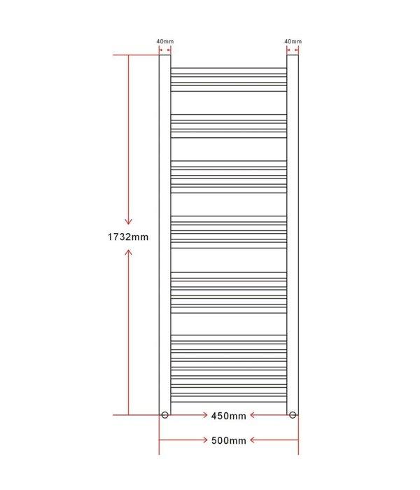 Voordeeltrends Badkamer handdoek radiator recht 1.000 W 500x1732 mm