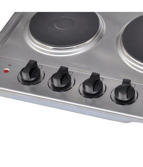 Voordeeltrends Elektrische RVS inbouw kookplaat 4-delig