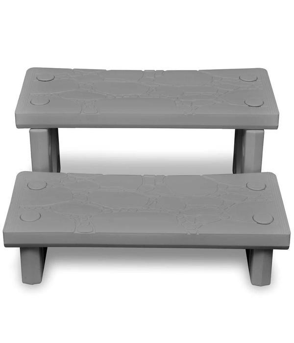 vidaXL Spa trap (grijs)