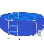 Voordeeltrends Zwembad rond 300 cm met ladder filterpomp 300 gal/h