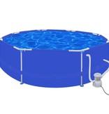 Voordeeltrends Zwembad rond 300 cm met filterpomp 300 gal / h (90537+90560)