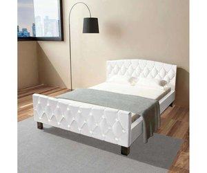 Tweepersoonsbed Met Matras : Tweepersoonsbed met traagschuim matras cm wit voordeeltrends