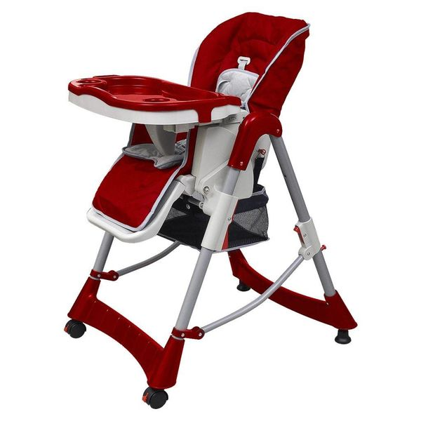 Kinderstoel Deluxe in hoogte verstelbaar bordeauxrood
