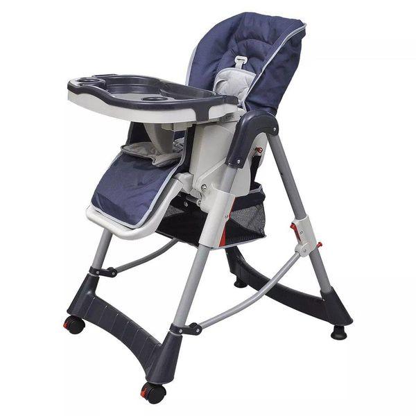 Kinderstoel Deluxe in hoogte verstelbaar donkerblauw