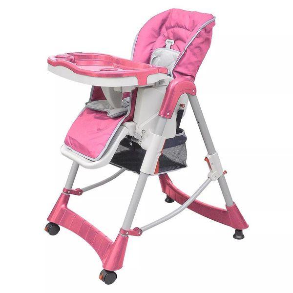 Kinderstoel Deluxe in hoogte verstelbaar roze