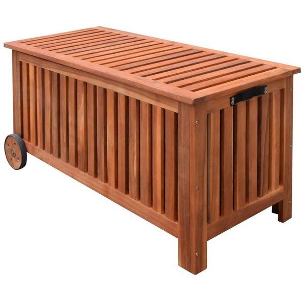 Tuinkussenbox hout 118x52x58 cm