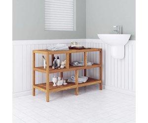 Badkamerkast Op Poten : Badkamerkast massief walnoothout cm voordeeltrends