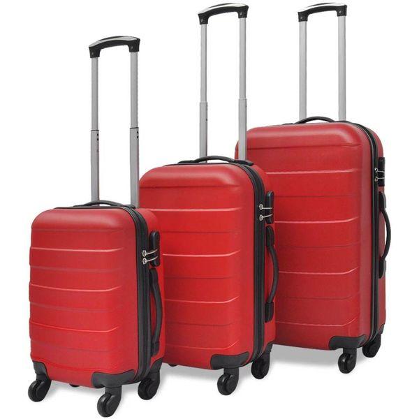 Harde kofferset 3-delig rood