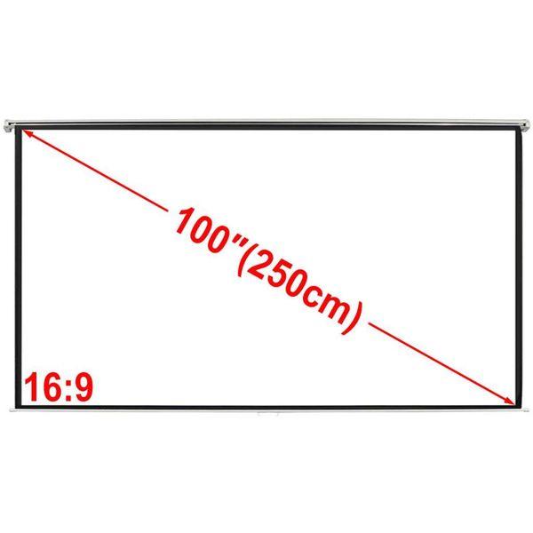 Projectiescherm (4:3 formaat) wit 200x153 cm