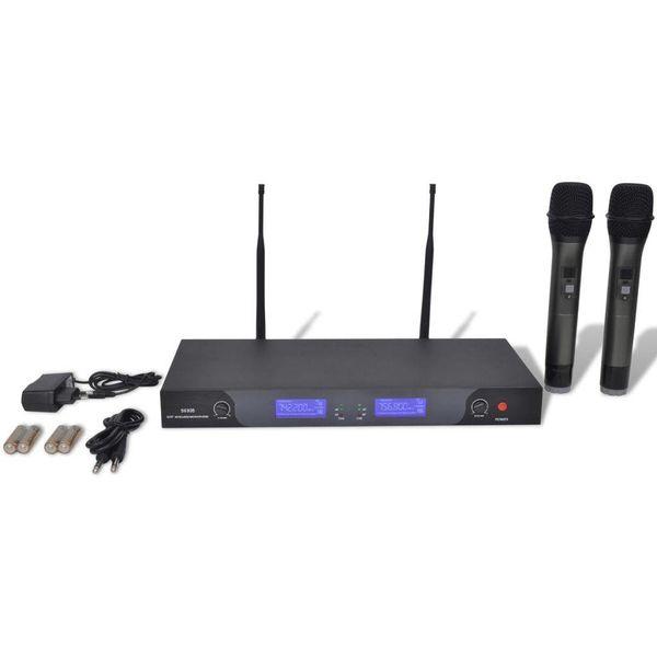 2 Draadloze microfoons UHF met ontvanger
