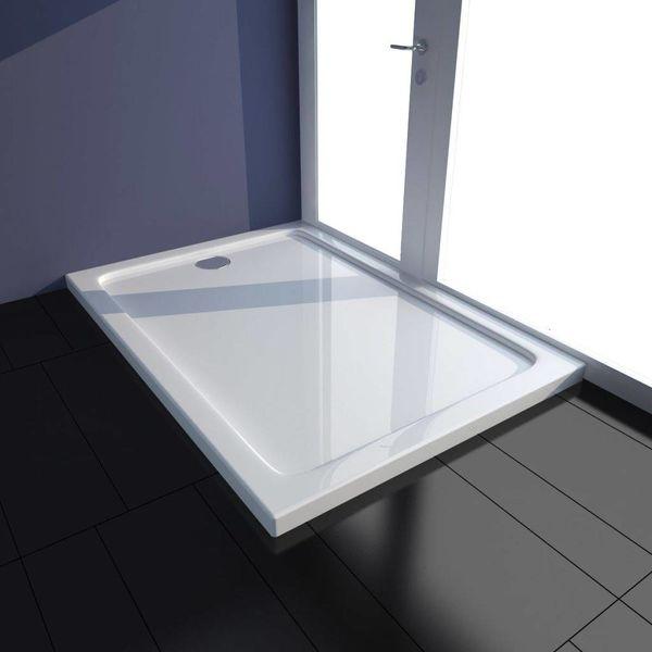 Douchebak rechthoekig ABS wit 70 x 100 cm