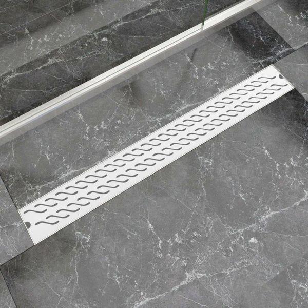 Doucheafvoer rechthoekig golf 930x140 mm roestvrij staal