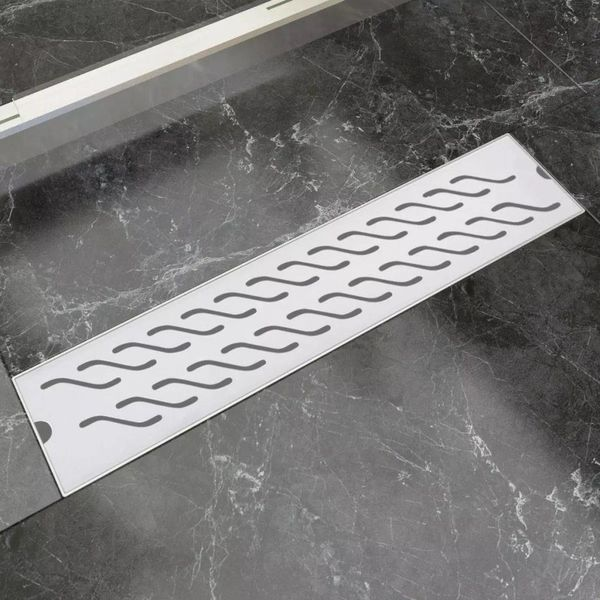 Doucheafvoer rechthoekig golf 530x140 mm roestvrij staal