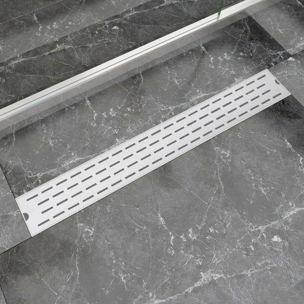 Doucheafvoer rechthoekig 830x140 mm RVS