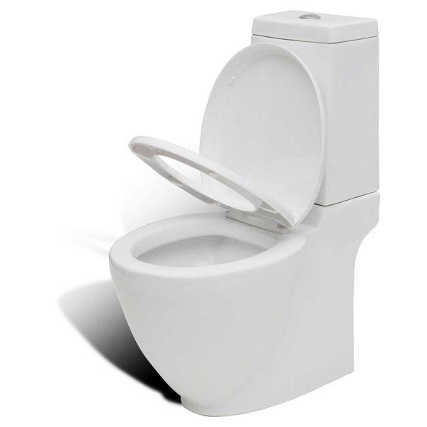 Design toilet vierkant keramiek wit