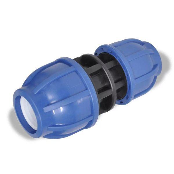 PE slangkoppeling reductie koppelstuk 16 bar 25 > 20mm (2 stuks)