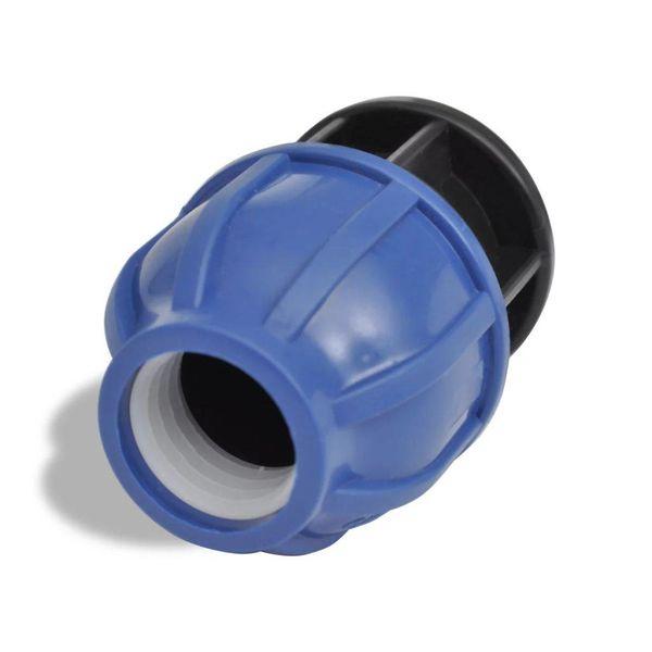 PE buis connector Com. Afsluitdop 16 bar 20mm 2 stuks