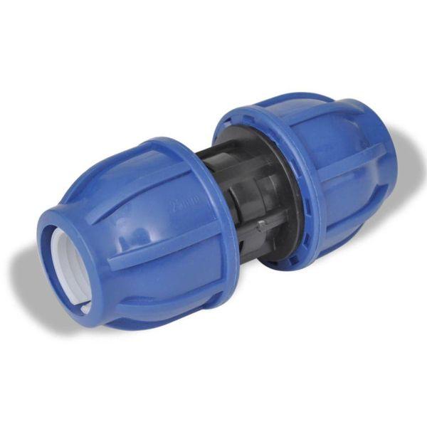 PE slangverbinding rechte koppeling 16 bar 20mm (2 stuks)