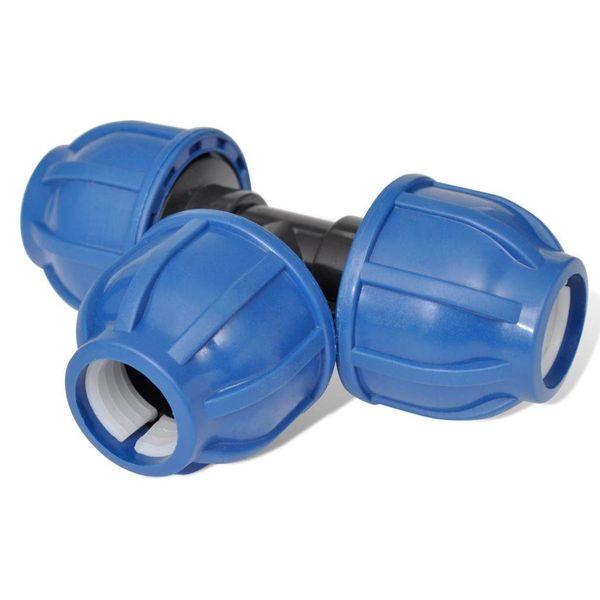 PE slangkoppeling gelijke Tee 16 bar 20mm (4 stuks)