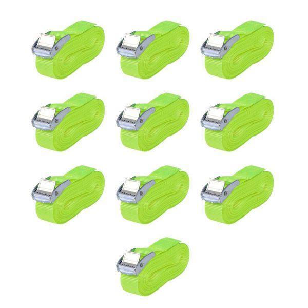Banden 0,25 ton 5mx25mm fluoriserend groen 10 st