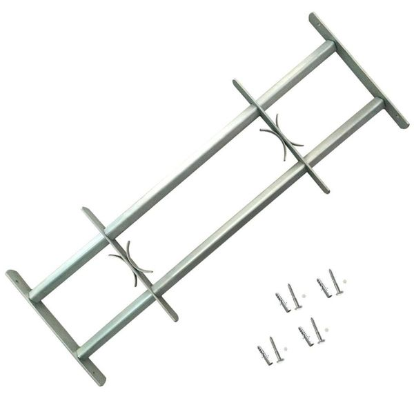Raambeveiliging verstelbaar met 2 dwarsbalken 1000-1500 mm