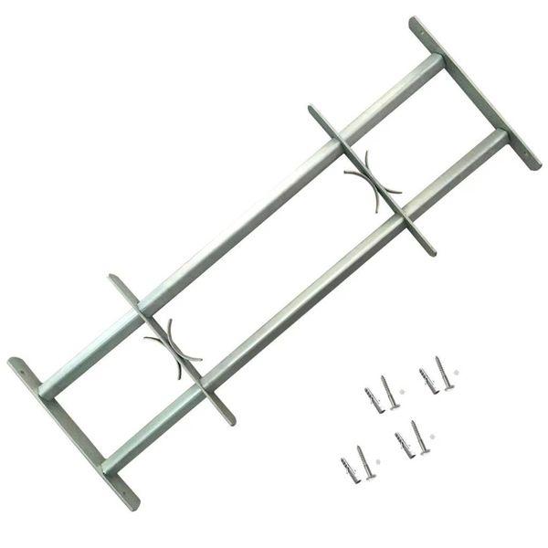 Raambeveiliging verstelbaar met 2 dwarsbalken 700-1050 mm