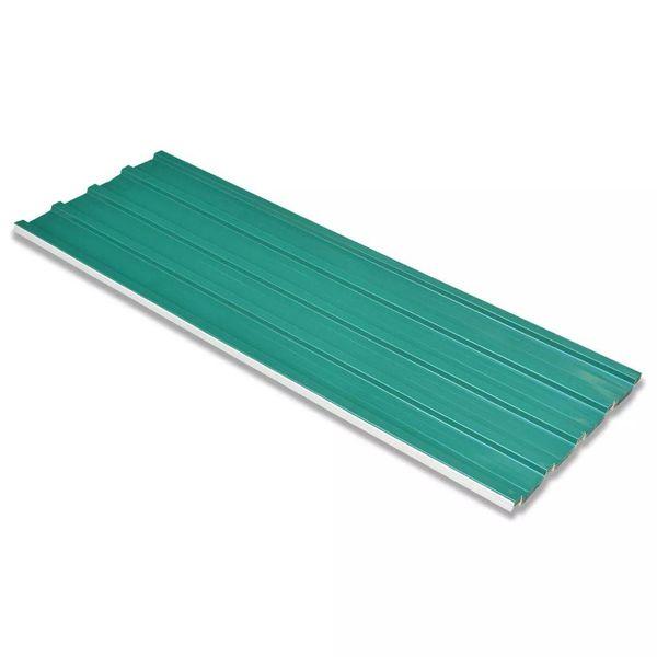 Dakpanelen gegalvaniseerd staal groen 12st