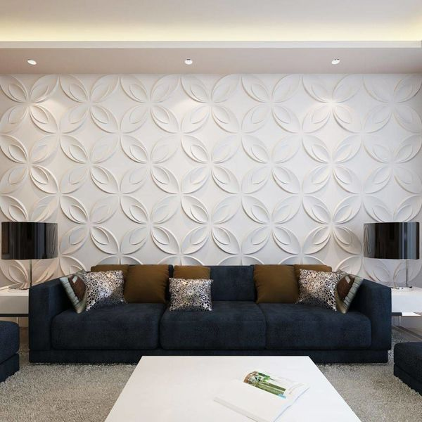 66 x 3D wandpanelen (bloemenmotief) 0,3 m x 0,3 m - 6 m²