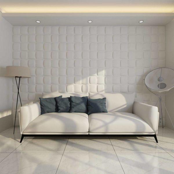 3D wandpanelen 0,5 x 0,5 m vierkant motief (Set 6 m², 24 stuks)