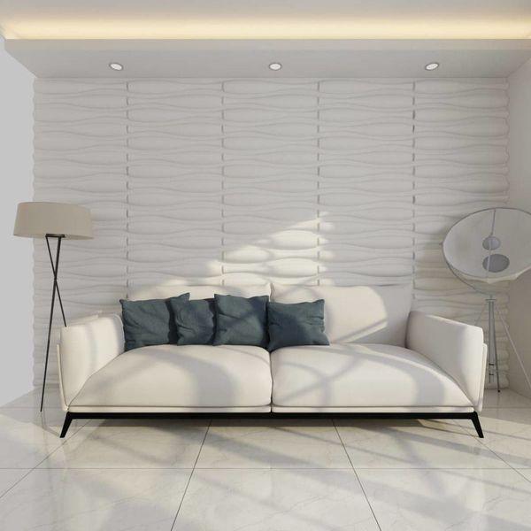 12 x 3D wandpanelen (golvend motief) 0,625 m x 0,8 m - 6 m²