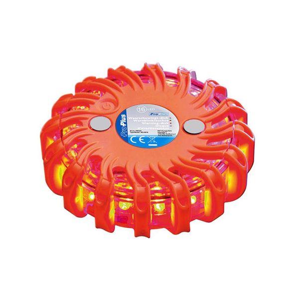Waarschuwingsschijf 16 LED's Oranje 540322