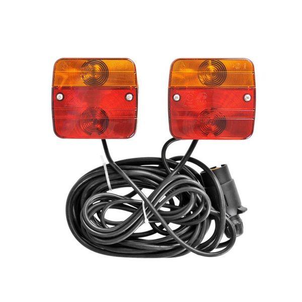 magnetische lampen voor aanhanger 7,5 + 2,5 m kabel 330418
