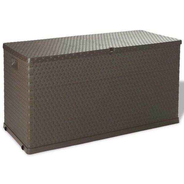 Opslagbox voor in de tuin 420 L bruin
