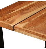 vidaXL Bartafel 180x70x107 cm massief sheesham hout