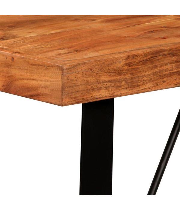 vidaXL Bartafel 120x60x107 cm massief sheesham hout