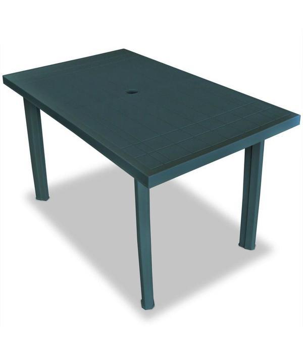 vidaXL Tuinset 126x76x72 cm groen 7-delig