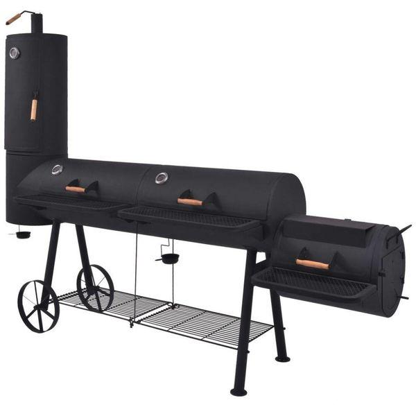 Houtskoolbarbecue met onderplank XXXL zwart