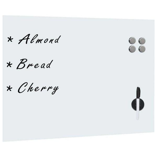 Whiteboard voor aan de wand magnetisch 80x60 cm glas