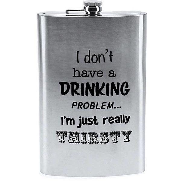 """Mega Heupfles 1.8 liter - """"I don't have a drinking problem"""""""