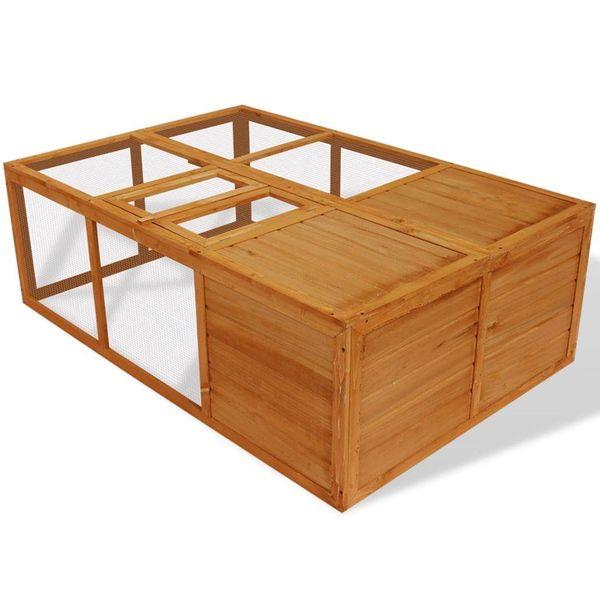 Dierenkooi inklapbaar hout