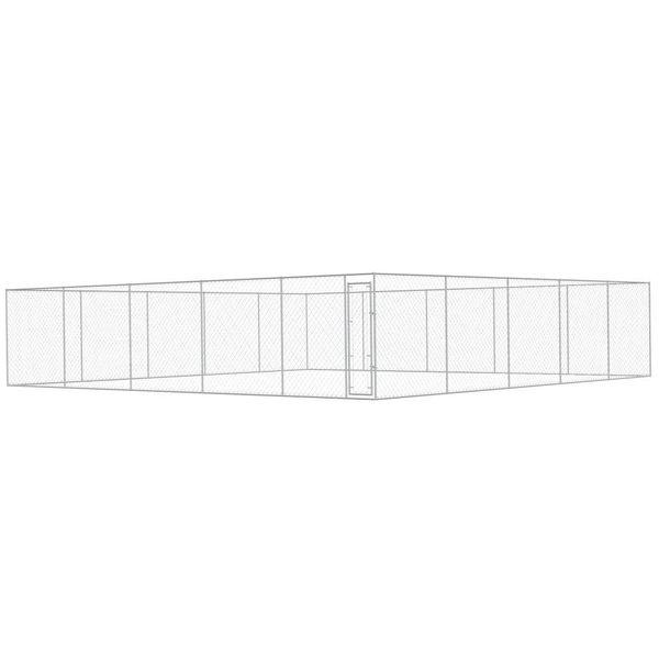 Hondenkennel voor buiten 10x10 m gegalvaniseerd staal