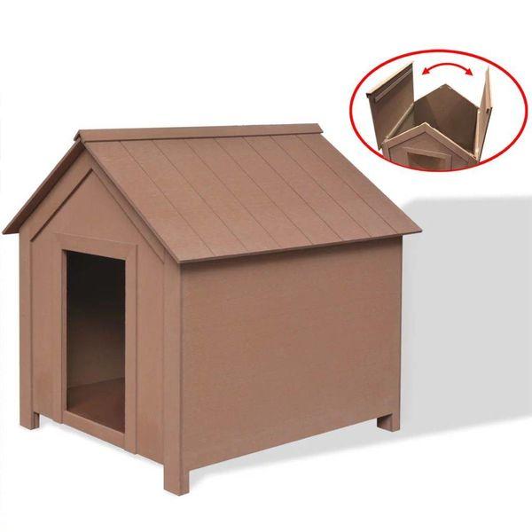 Hondenhok bruin 73,5x68x74 cm HKC