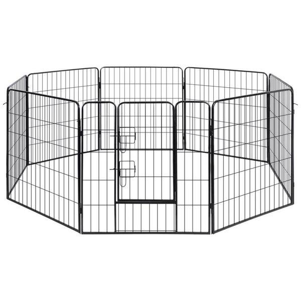 Hondenren met 8 panelen staal