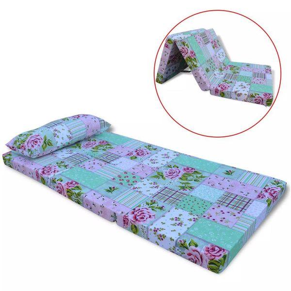 Matras voor kinderen opvouwbaar bloemenpatroon