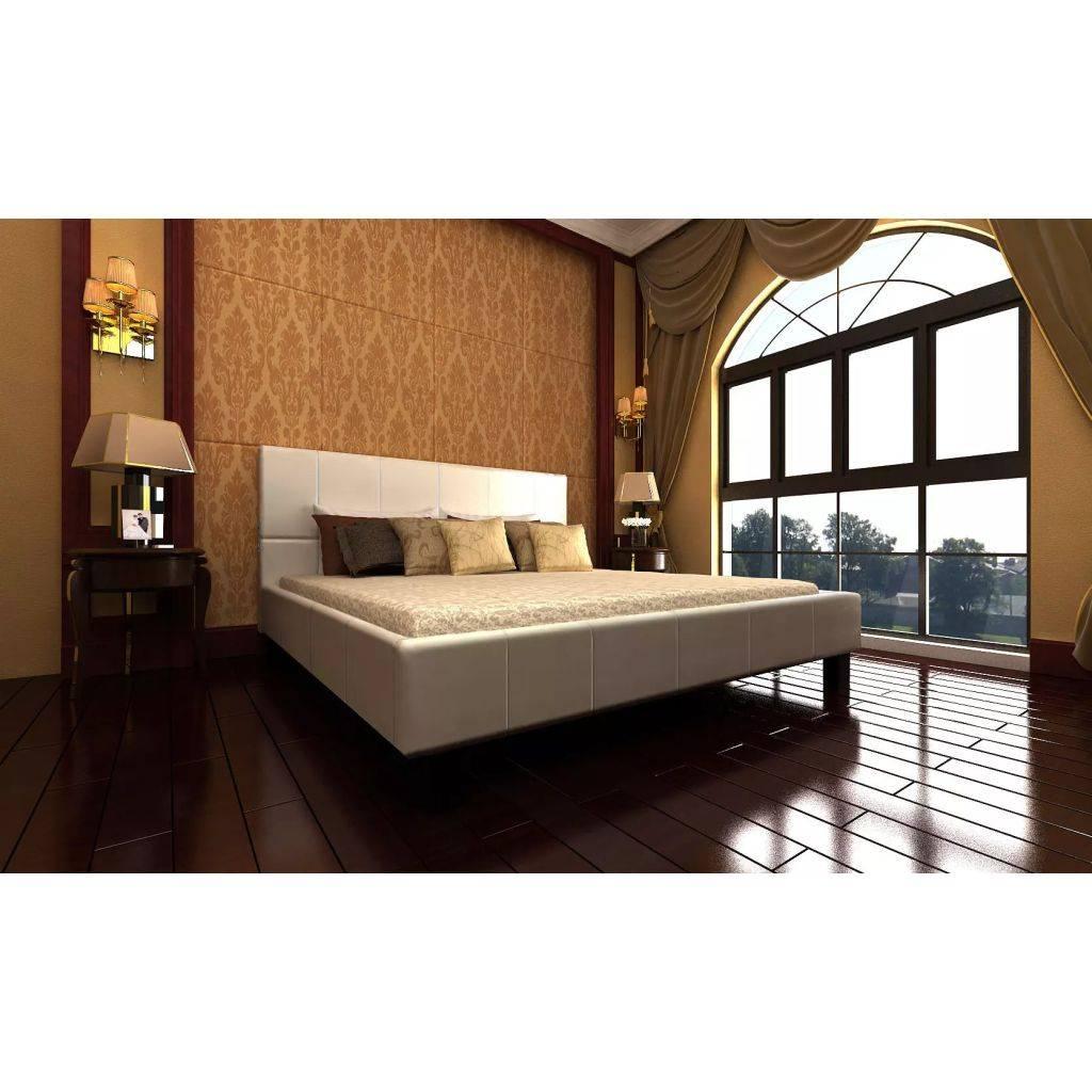 Wit Bed 2 Persoons.Vidaxl 2 Persoons Bed Romantico Wit Leer 140 X 200 Voordeeltrends